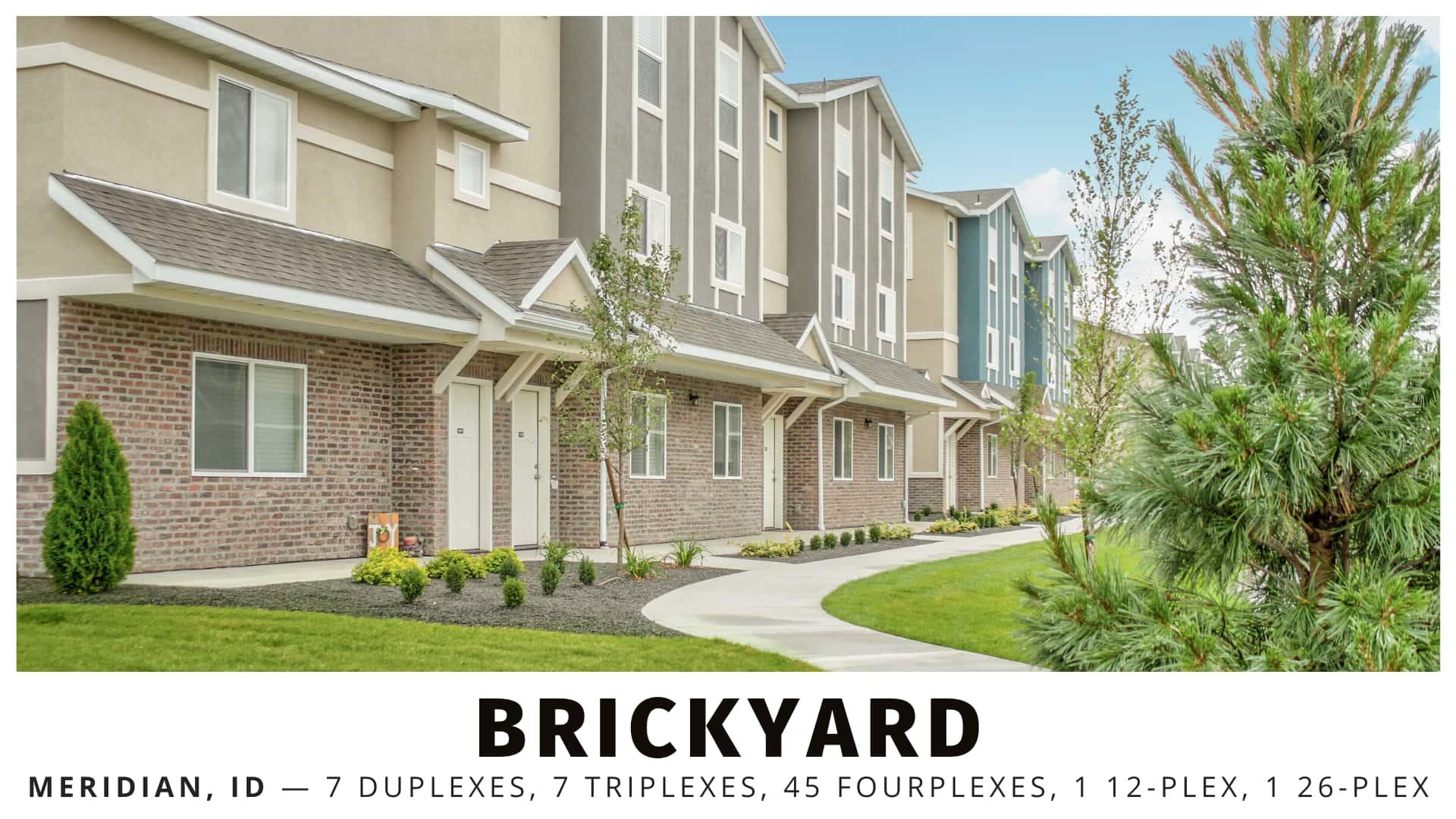 Brickyard multifamily in the Boise, Idaho Metro