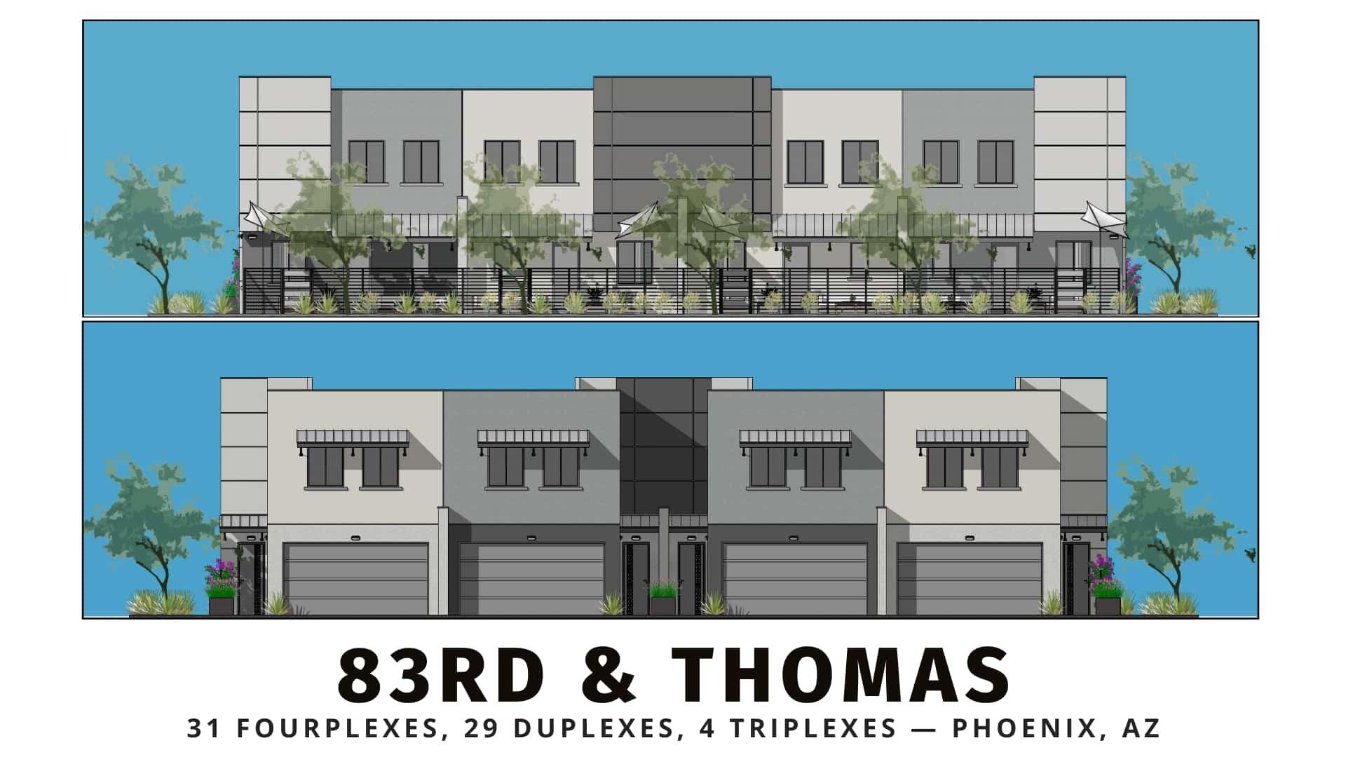 83rd & Thomas townhomes North Phoenix