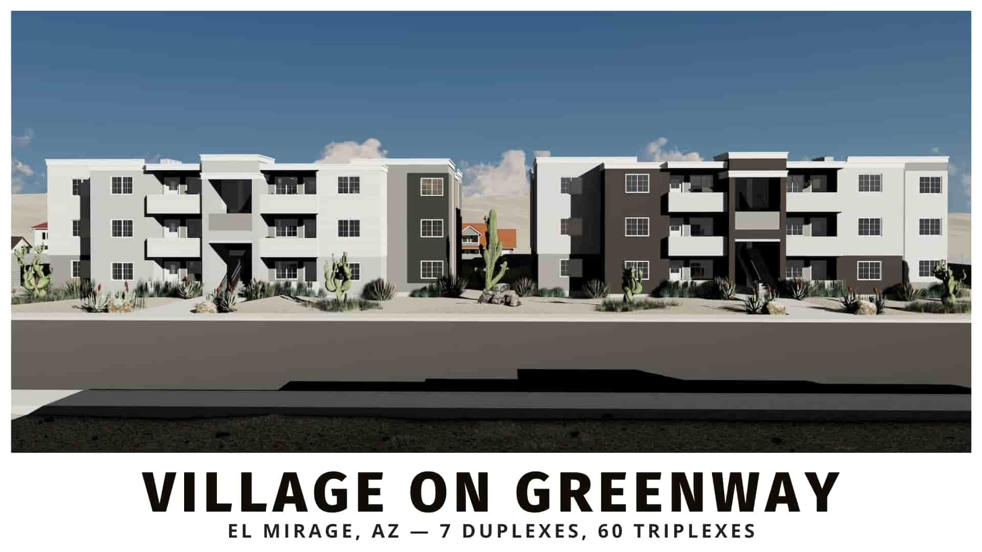 Village on Greenway duplexes and triplexes for sale in maricopa county