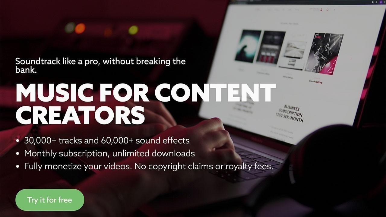 Music for content creators