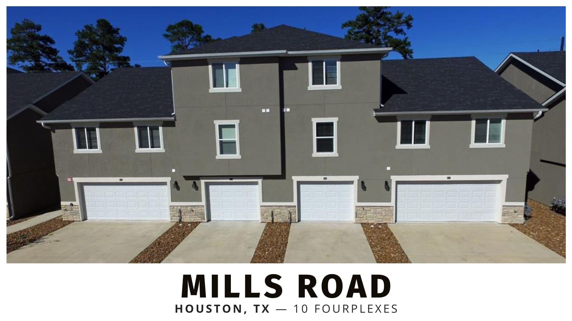 Mills Road duplexes, triplexes, and fourplexes in Houston, TX