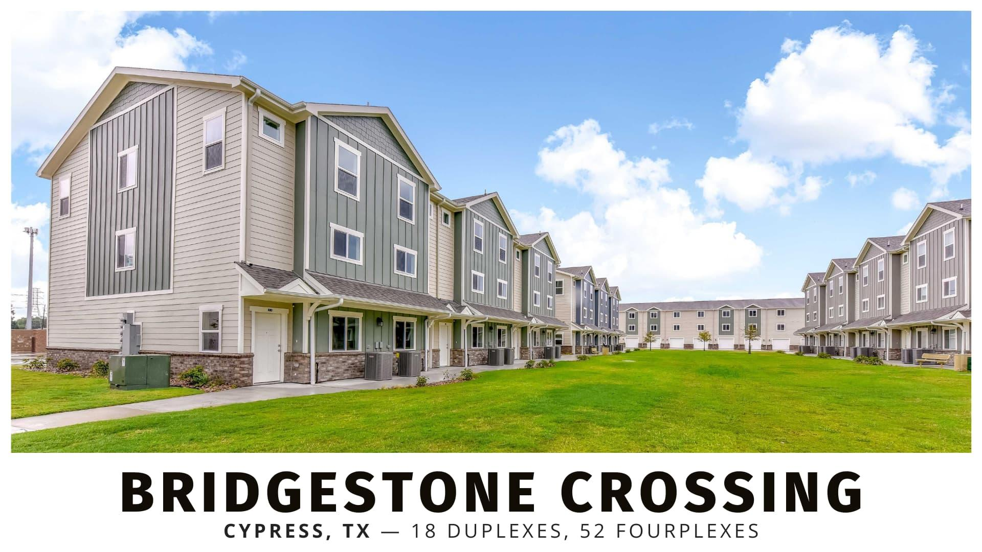 Bridgestone Crossing multifamily development in Cypress, Texas