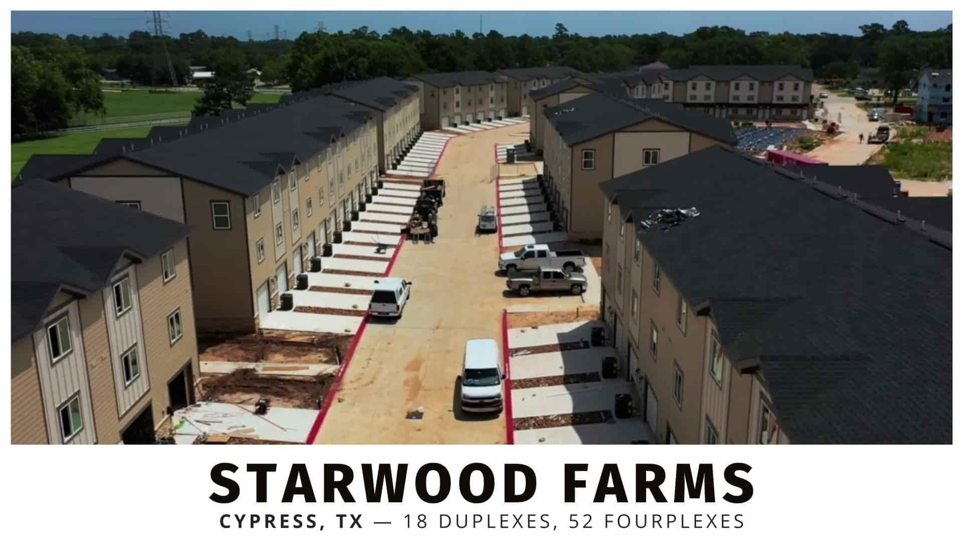 Starwood Farms duplexes and fourplexes for sale in Houston, Texas