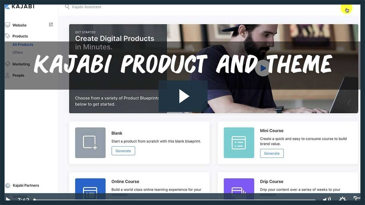 How To choose your Kajabi Product and Theme