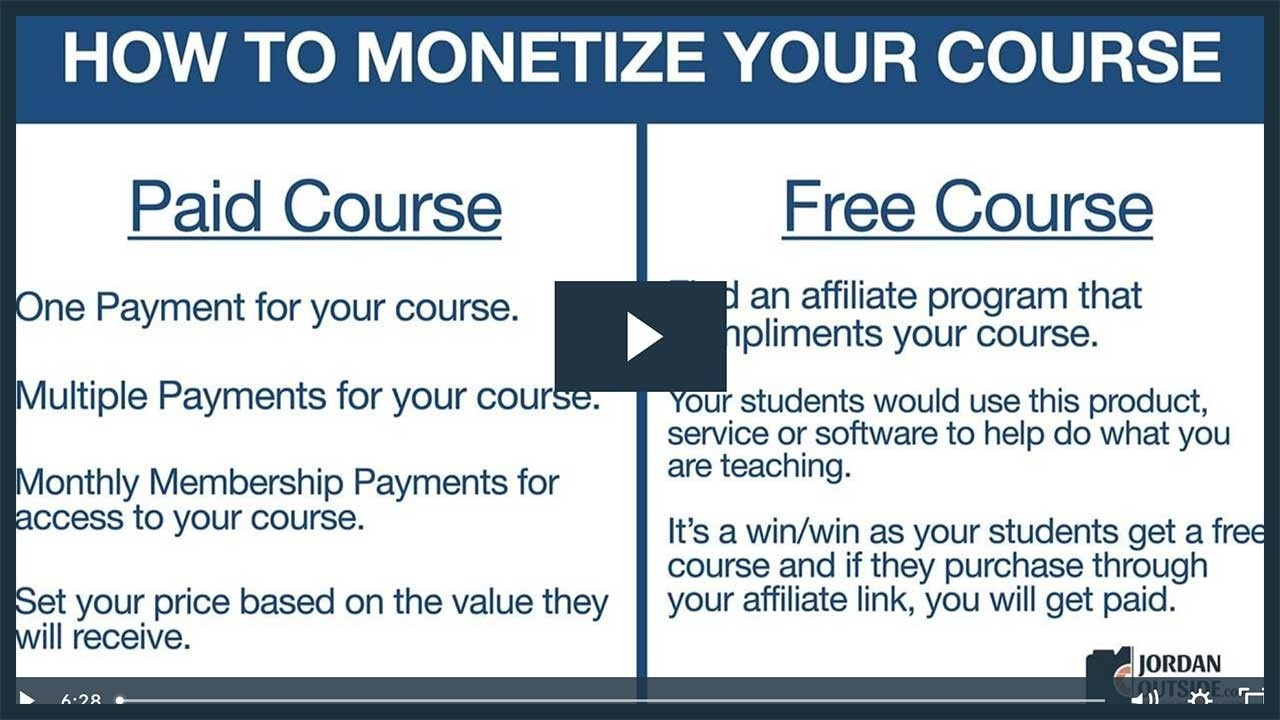 How To Monetize Your Course