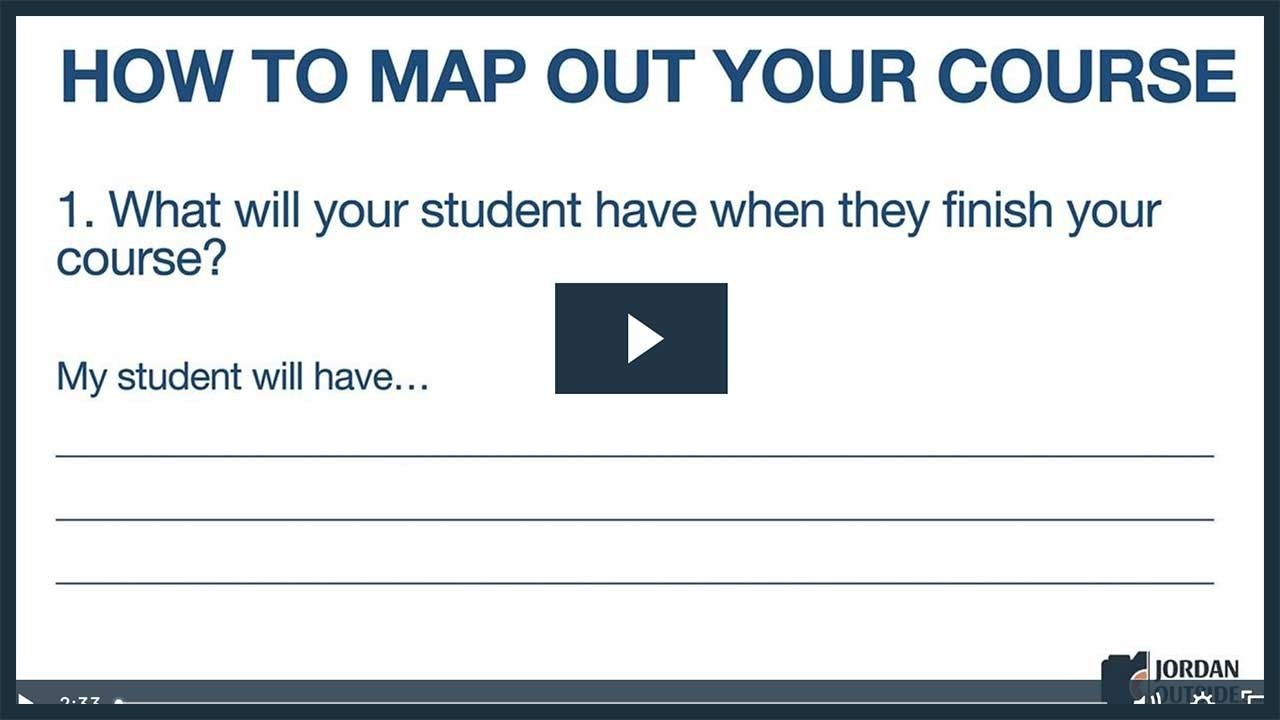 How To Map Out Your Course Tutorial