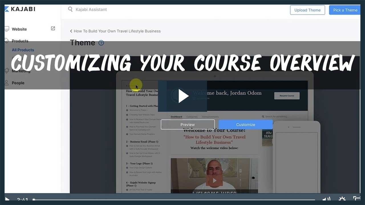 How To Customize Your Course Overview