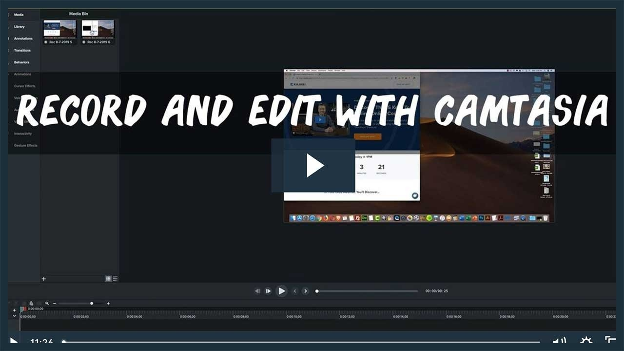 How To Record and Edit with Camtasia