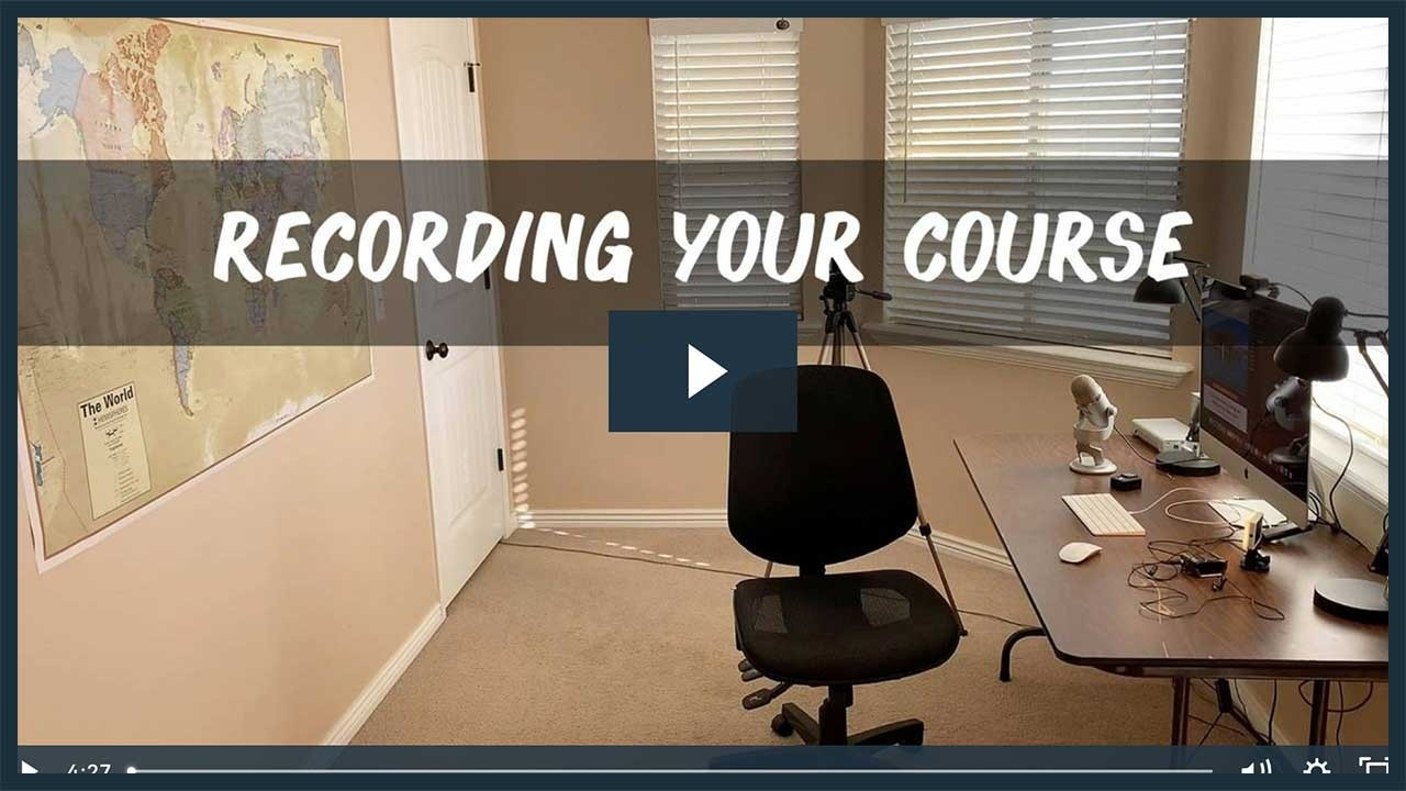 How To Record Your Course Video Tutorial