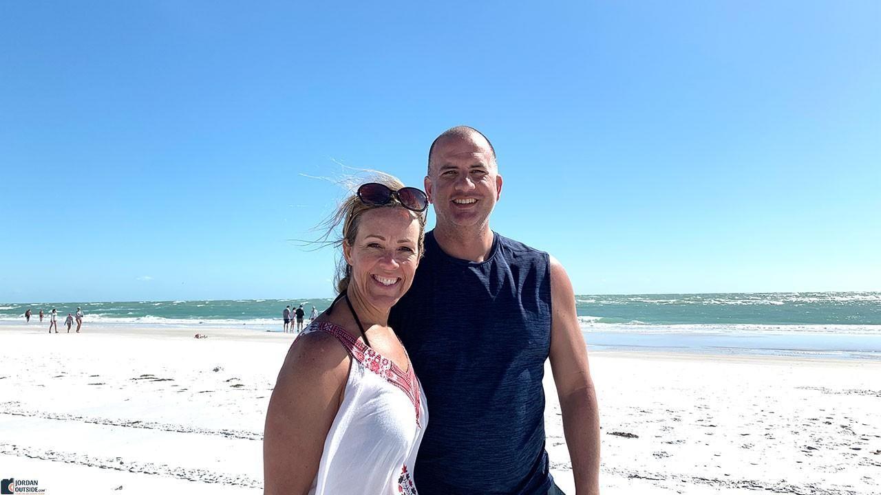 Julie and Jordan at Bean Point Beach, Florida