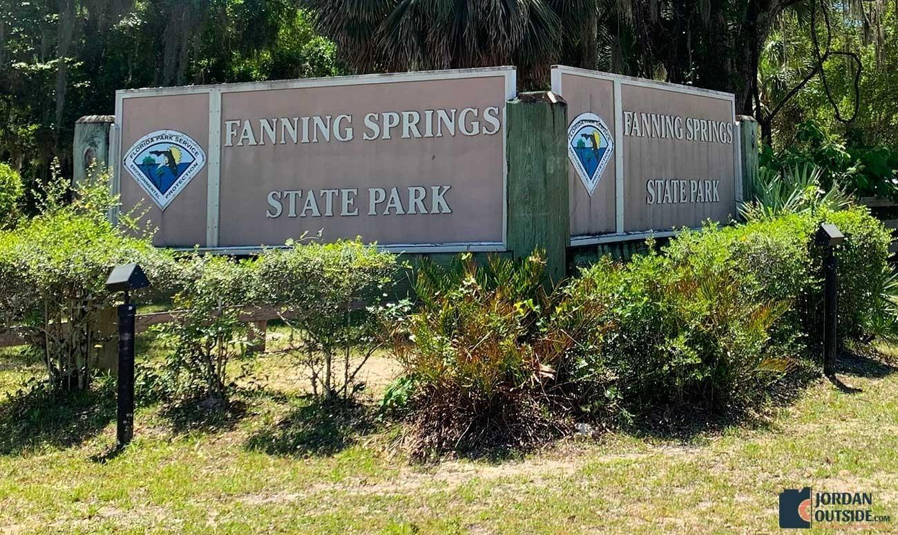 Fanning Springs State Park Sign