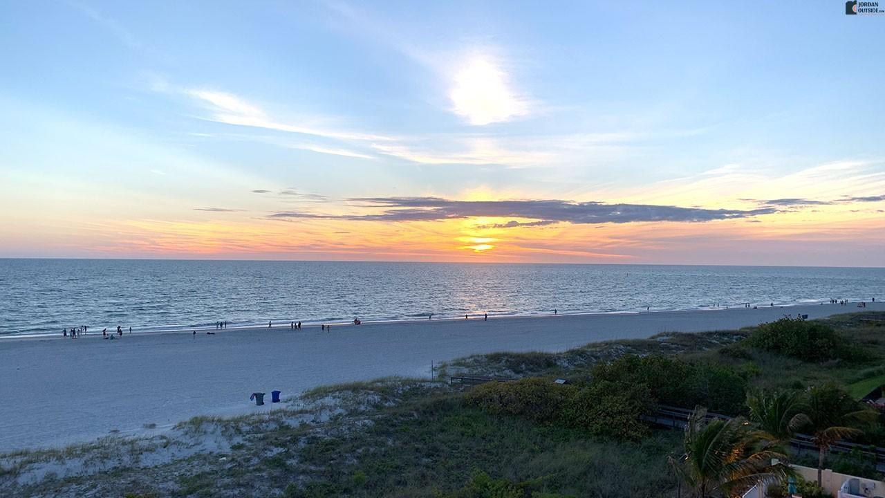 Beautiful Sunset at Sunset Beach, Florida