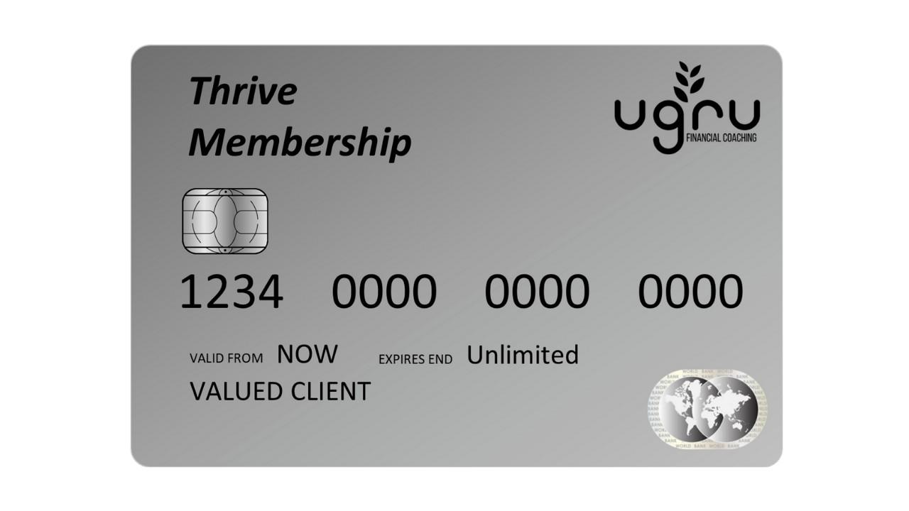Thrive Membership: Breakthroughs PLUS, One-on-One coaching to prevent financial pitfalls with peak focus, mindset and accountability.
