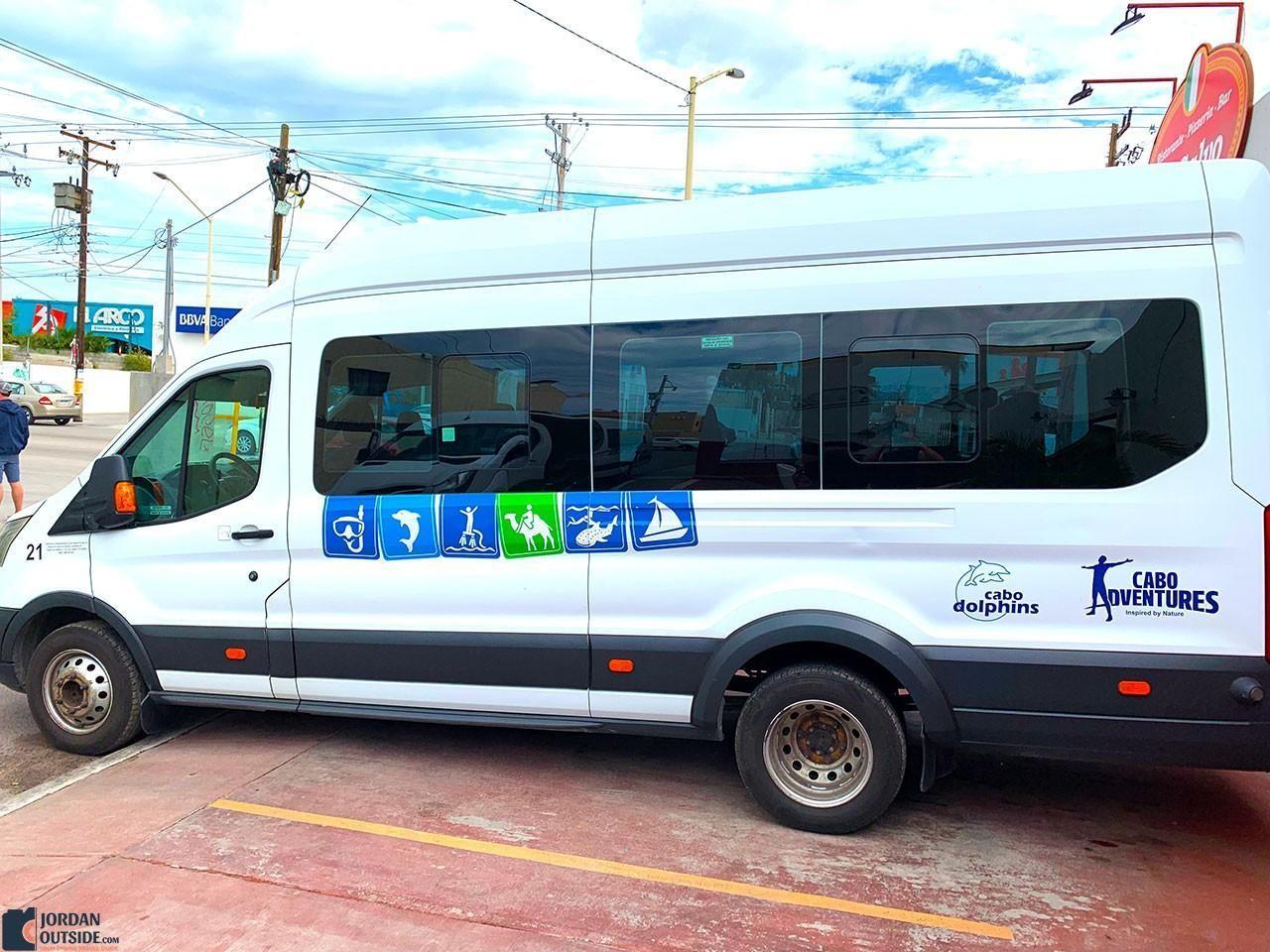 Cabo Adventures Transport Van