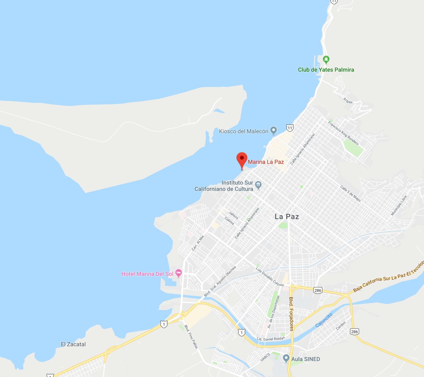 Map of Marina de La Paz