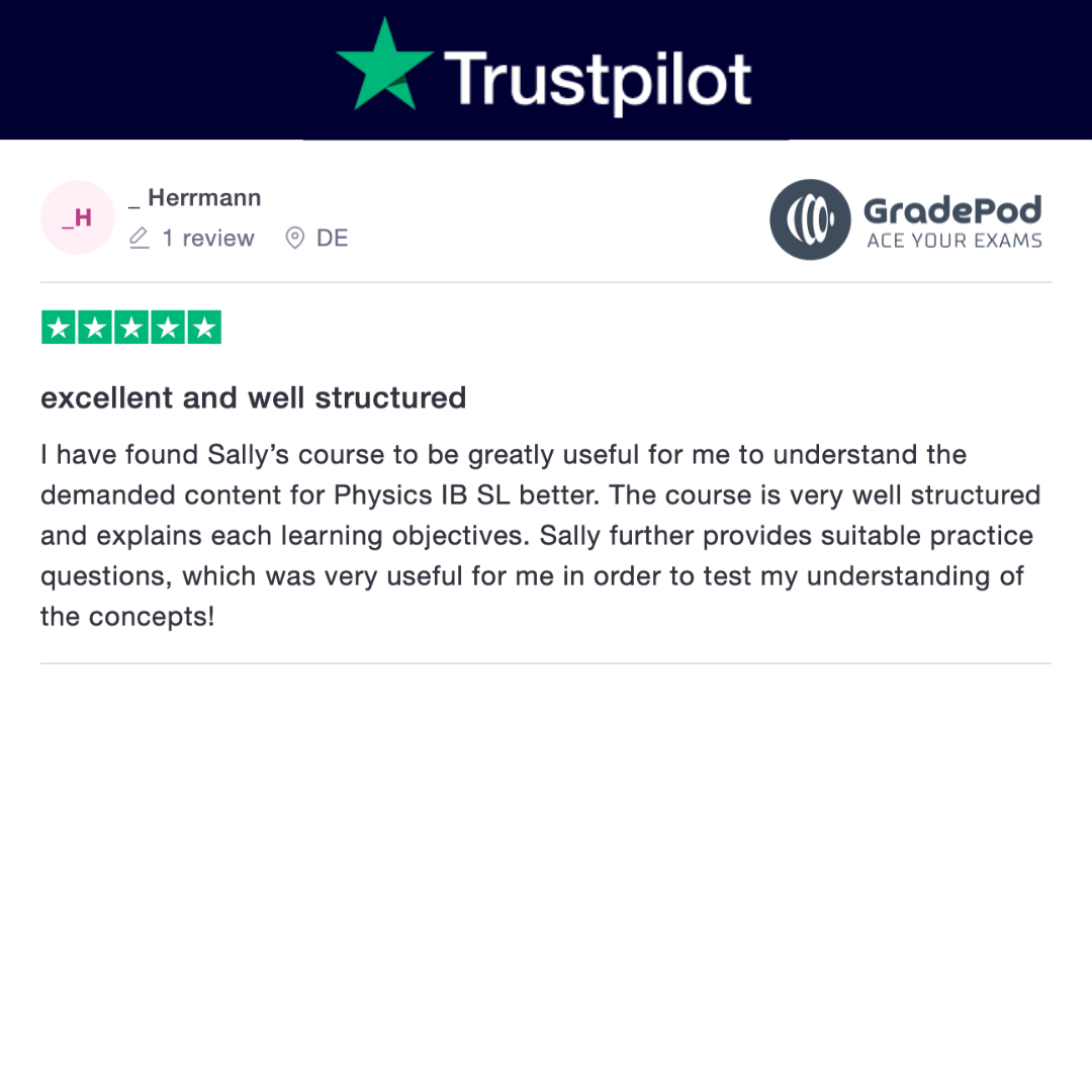 excellent and well structured gradepod trustpilot review