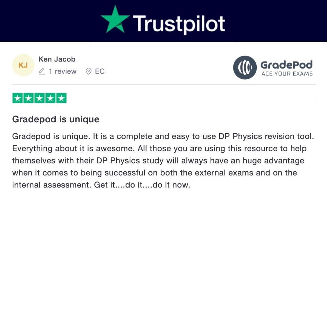 Gradepod is unique trustpilot review