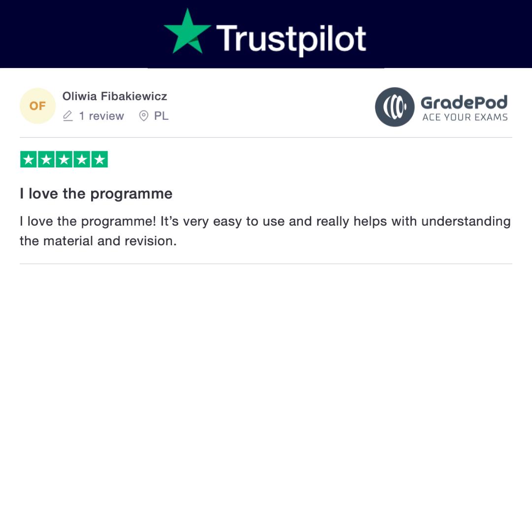 I love gradepod review on trustpilot