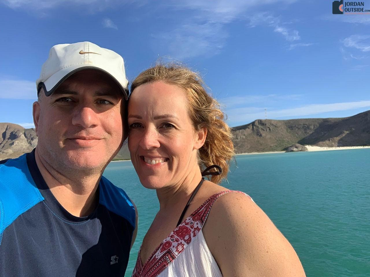 Jordan and Julie on the Sea of Cortez