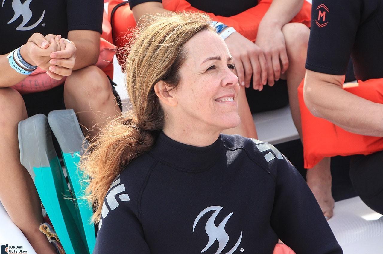 Julie on the boat
