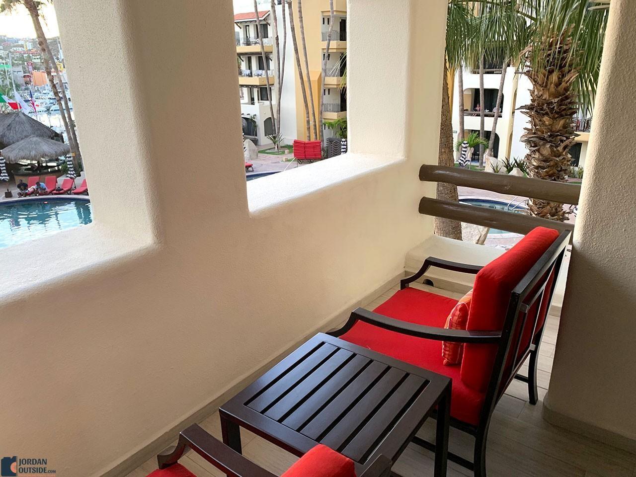 Our balcony at Marina Fiesta Hotel