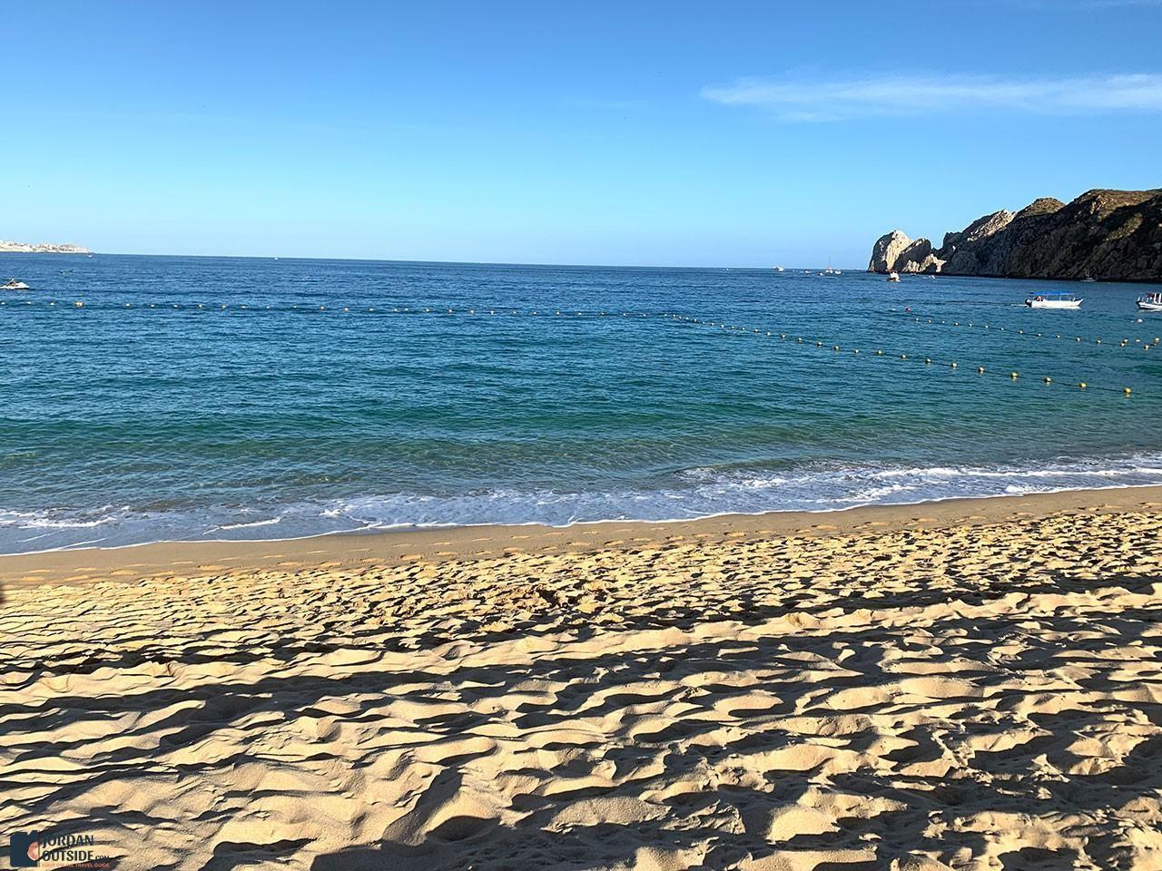 Beach at the boardwalk of Marina Fiesta