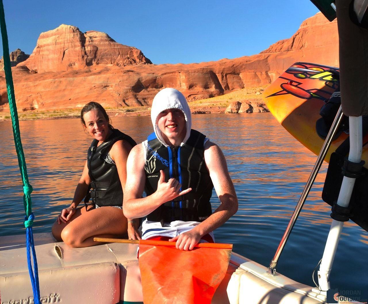 Julie and Jared at Lake Powell