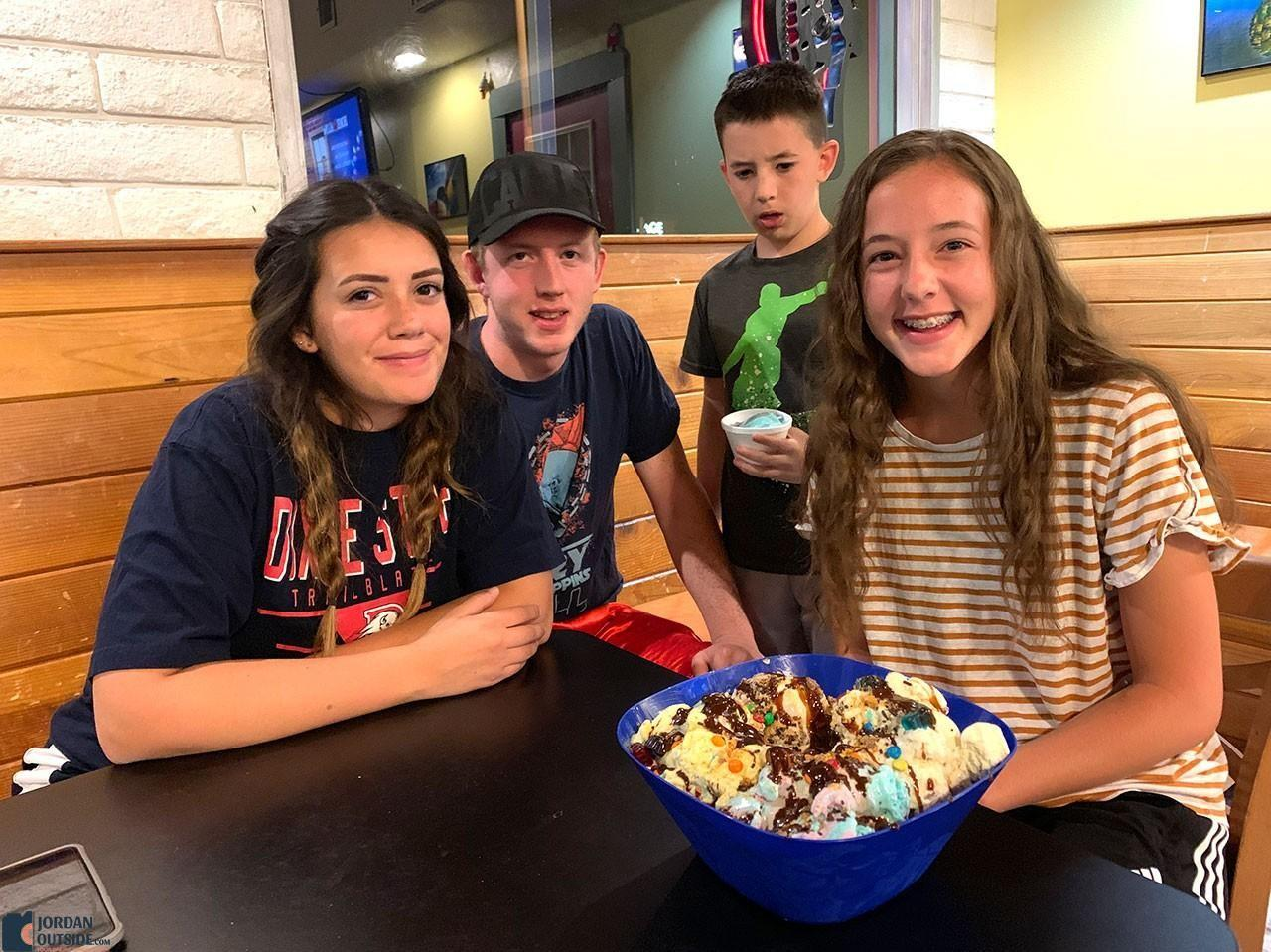 Navajo Mountain Ice cream Sunday