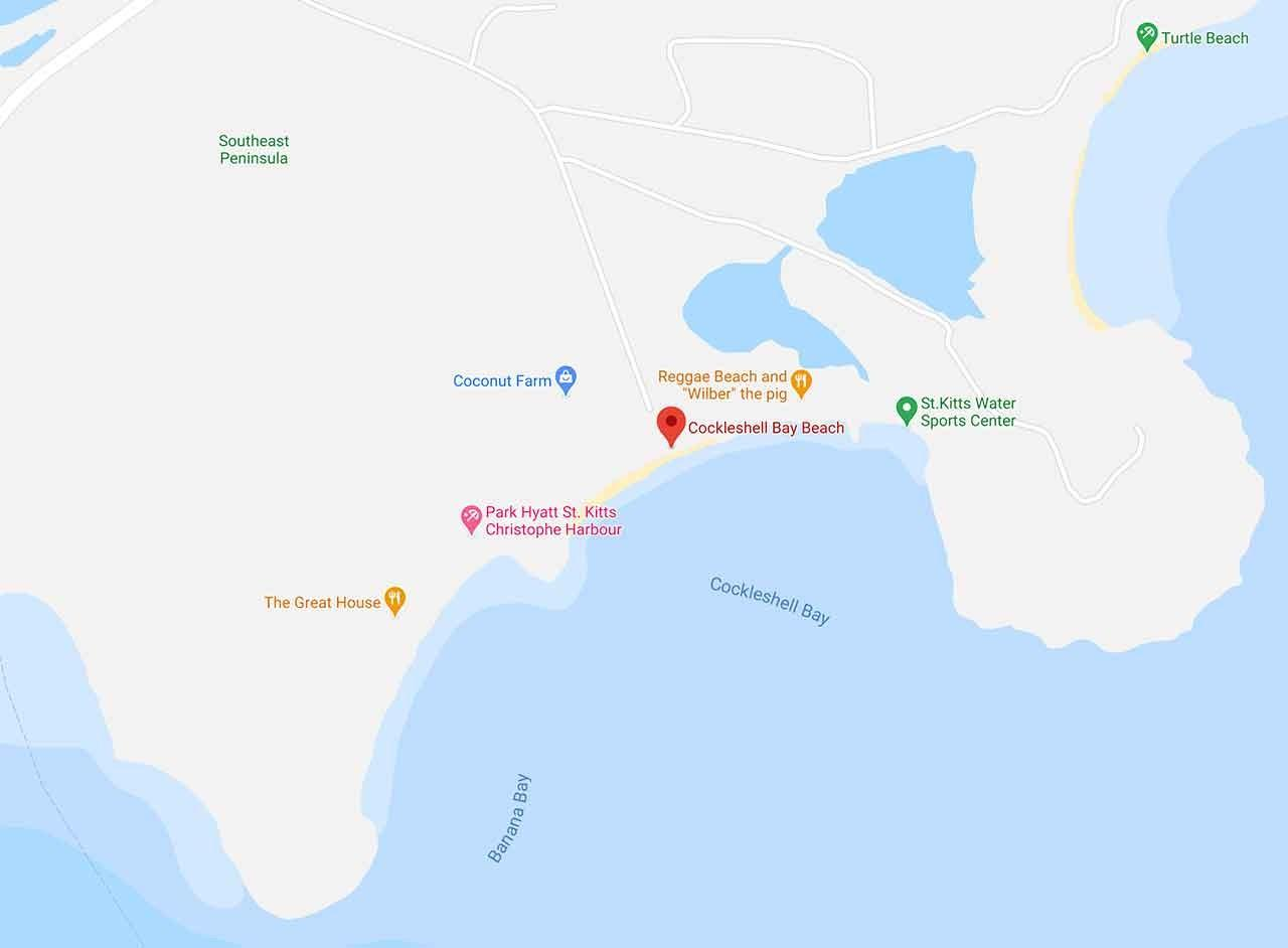 Cockleshell Beach Map