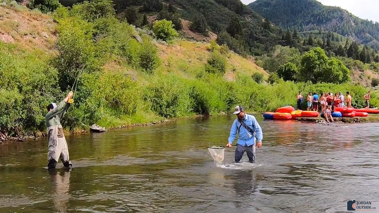 Fly fishing in the Provo River