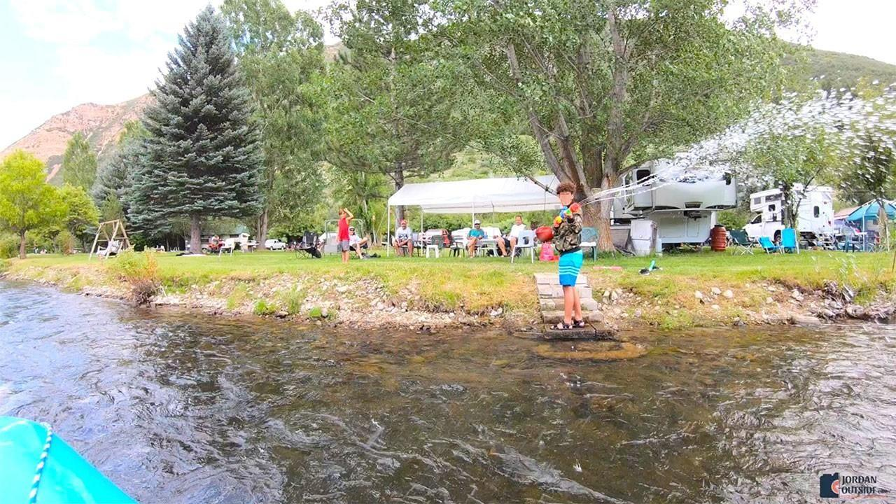 Campground on the Provo River