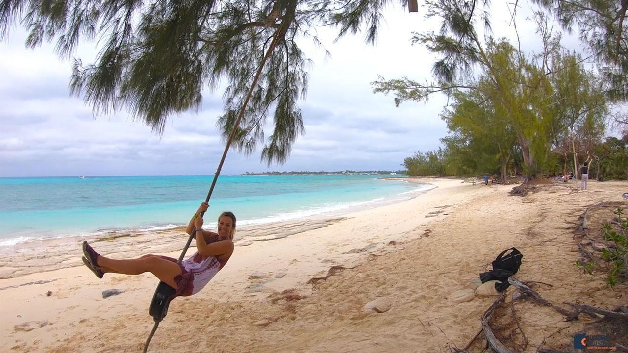 Johnston Beach in the Bahamas