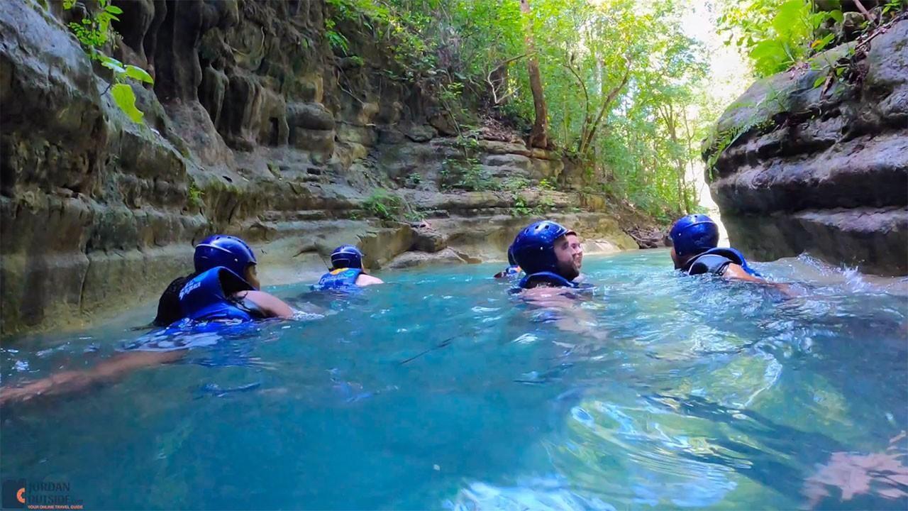 Swimming at Damajagua Falls