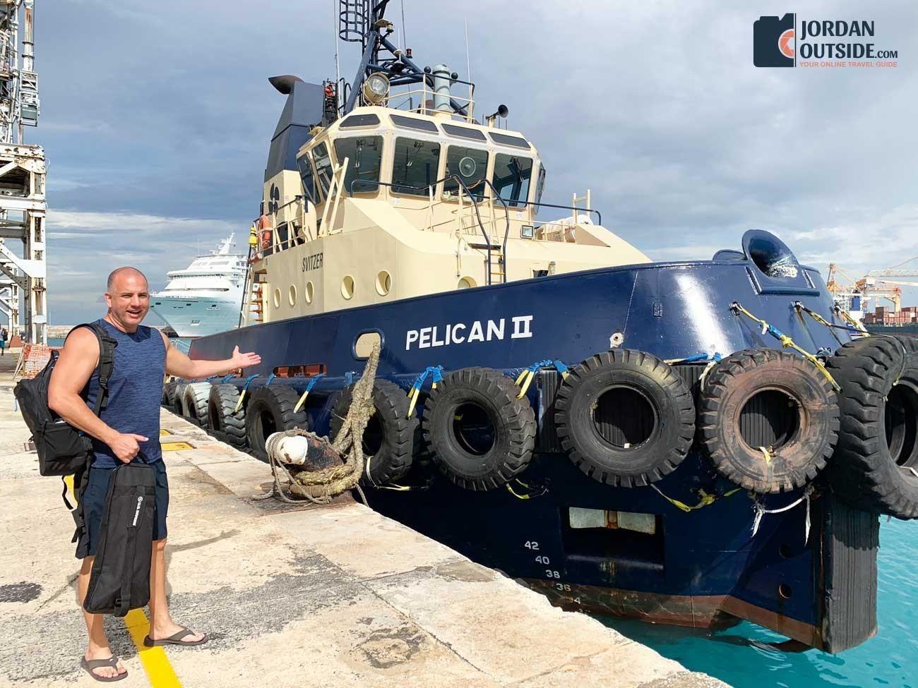 Tugboat in Barbados