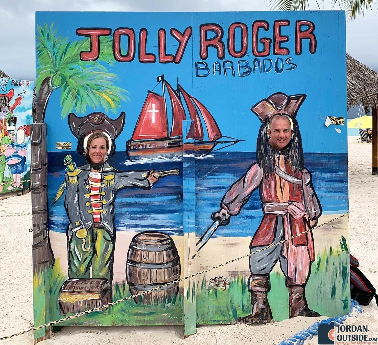 Jolly Roger Barbados cutout
