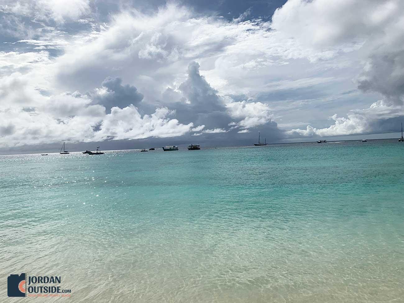 Beautiful view of ocean in Barbados