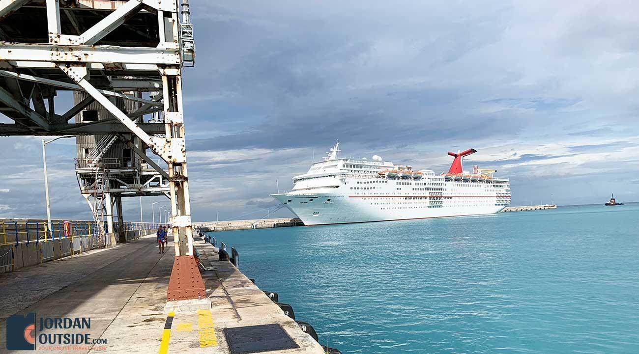 Carnival Cruise Ship in Barbados