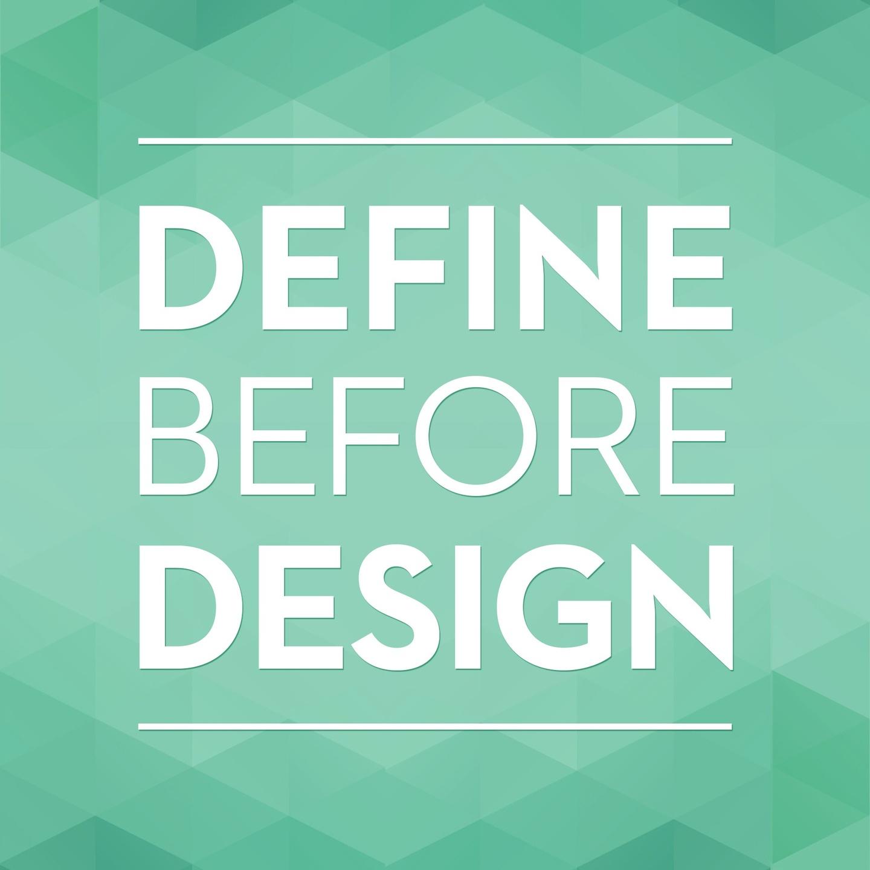 define before design podcast logo