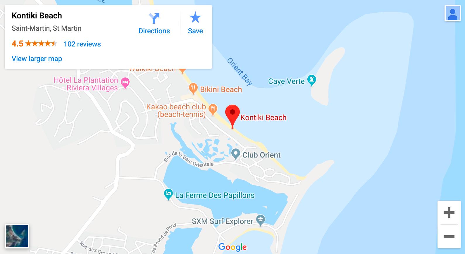 Orient Beach Map