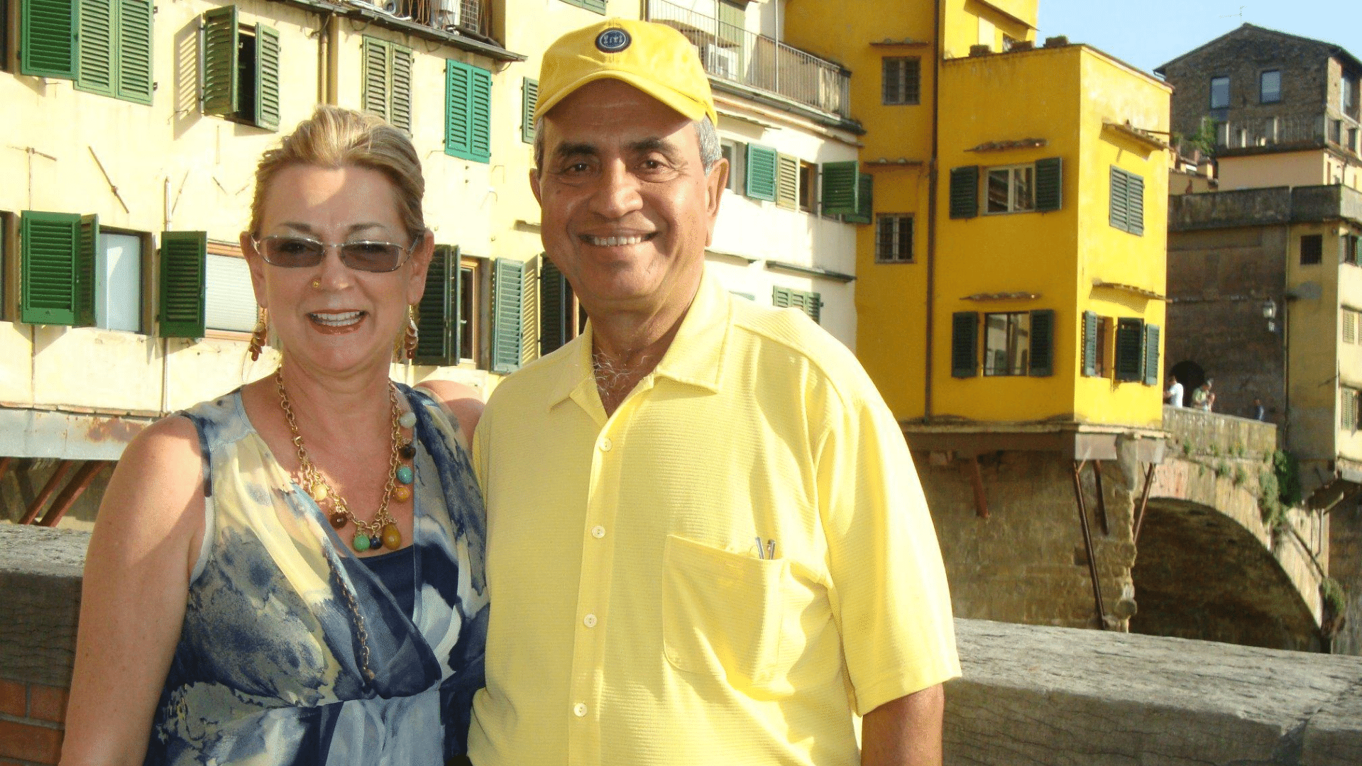 Isabel and Ajoy Banerjee in Italy