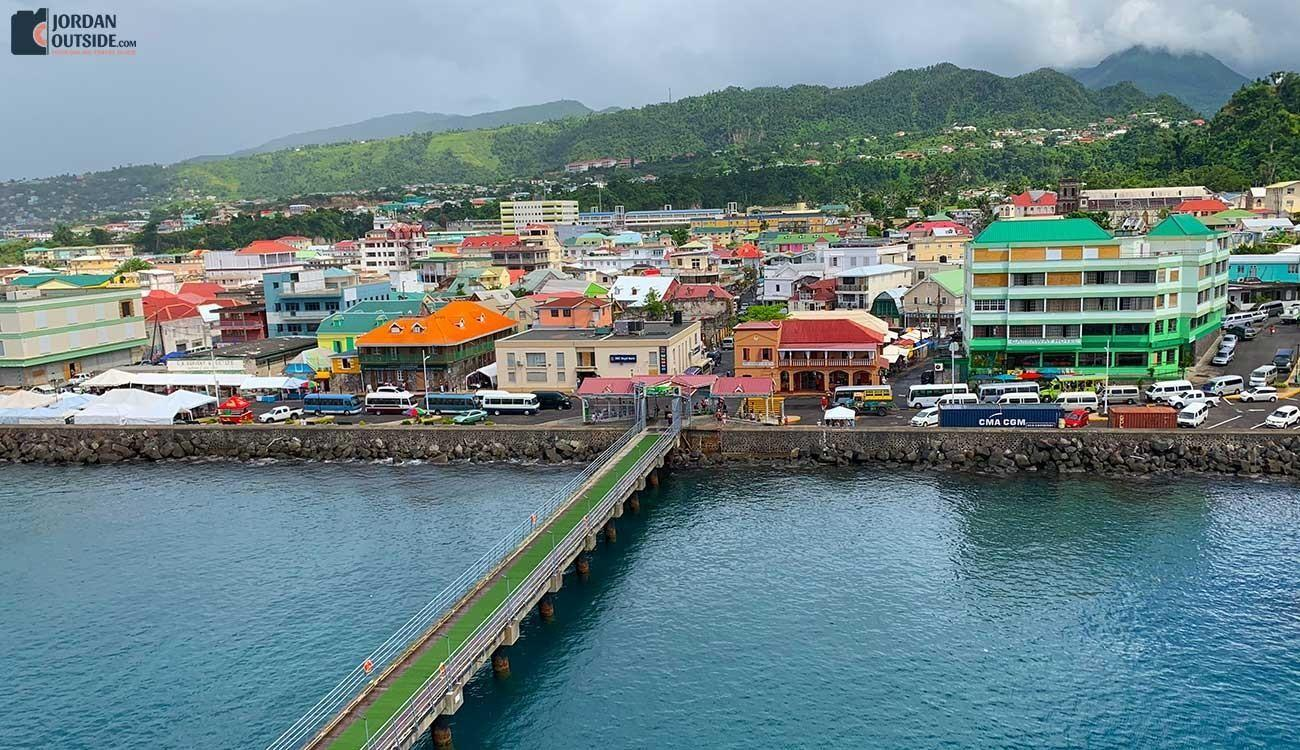 The port at Dominica