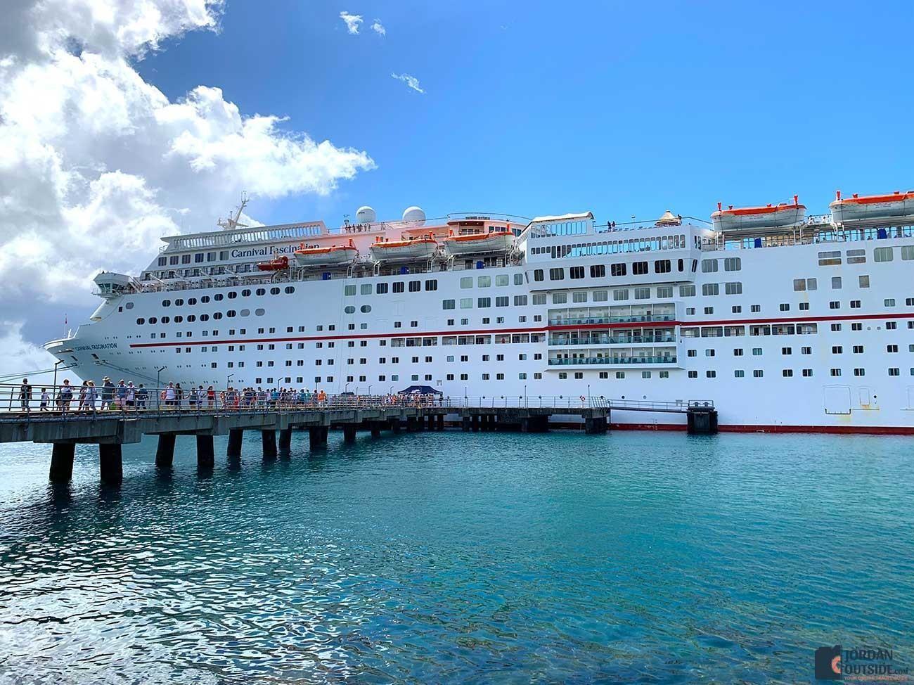Carnival Cruise Ship at Dominica