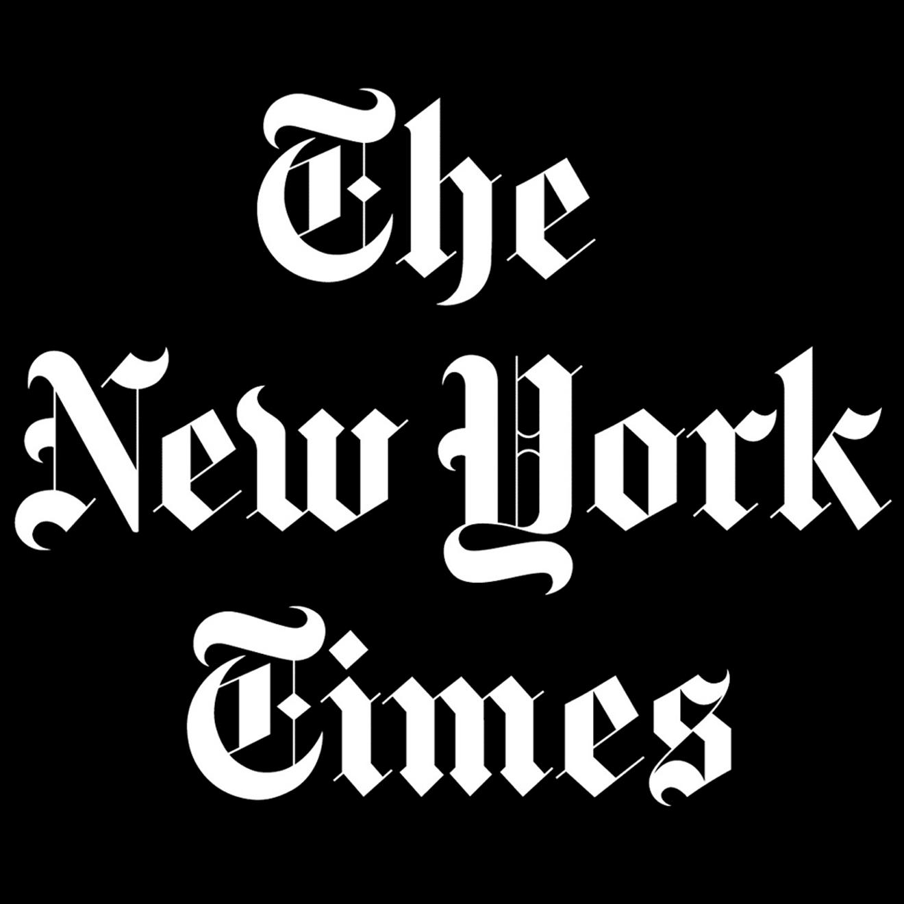 new york times logo white