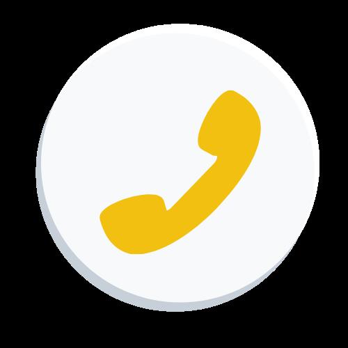 circle phone icon