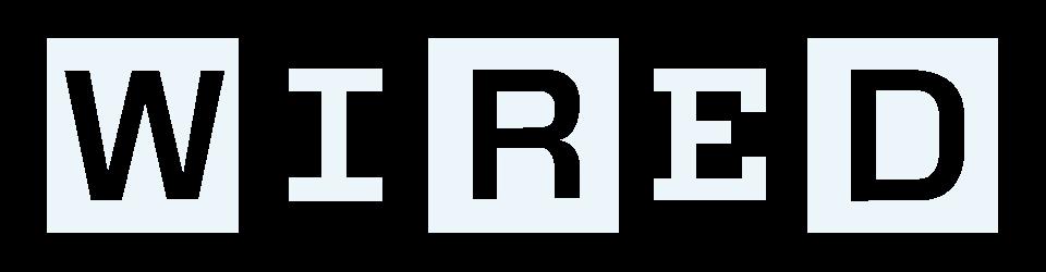 wired logo white