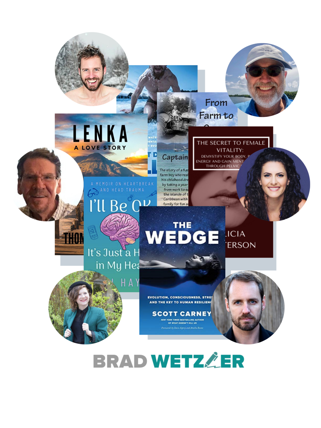 brad wetzler client and their published books