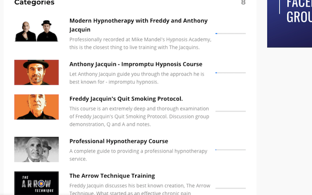Jacquin Hypnosis Courses