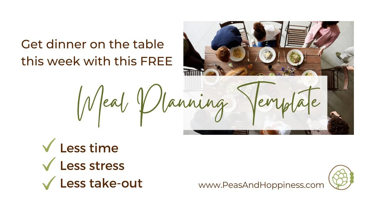Best Free Meal Planning Template
