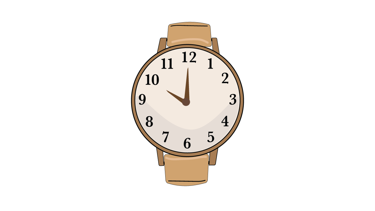 Executive functioning skill of Time Management - analog watch