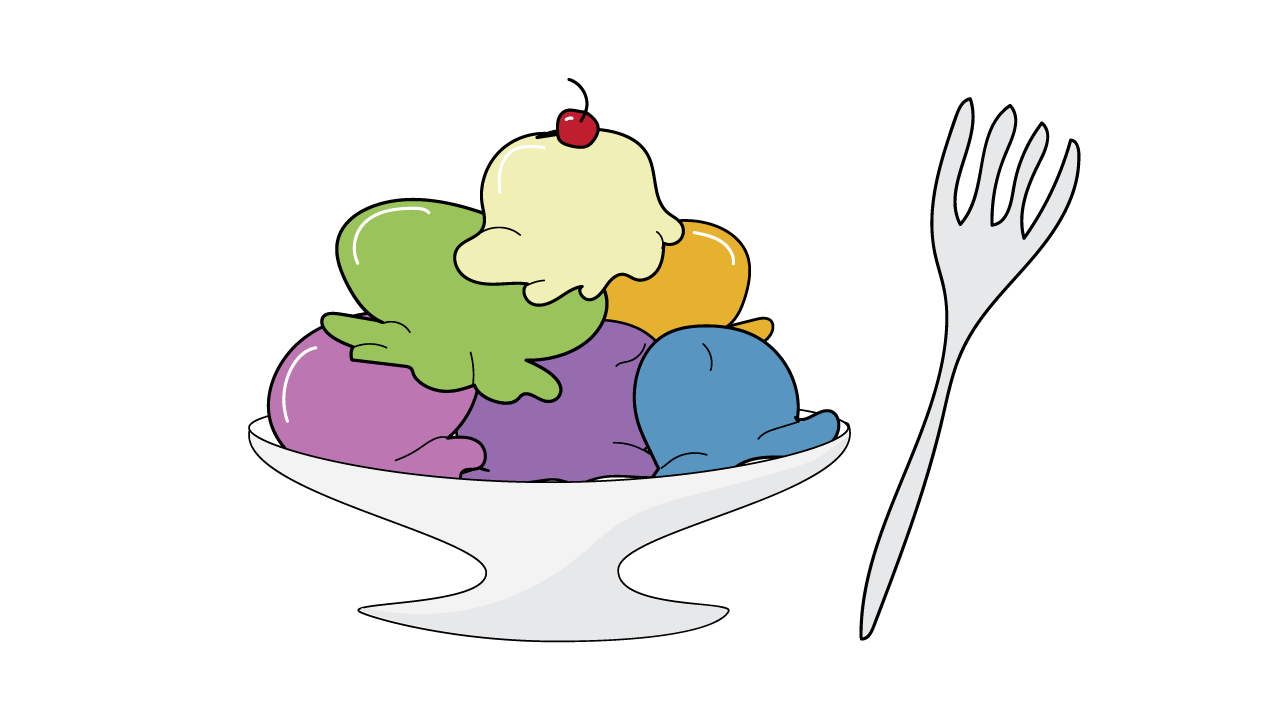 Executive functioning skill of Mental Flexibility - eat ice cream with a fork